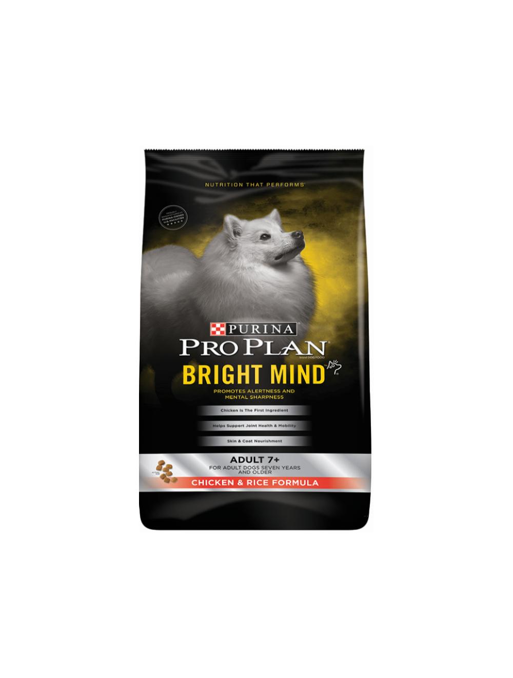 Comida Pro Plan Perros 7+ Bright Mind Raza - ciudaddemascotas.com
