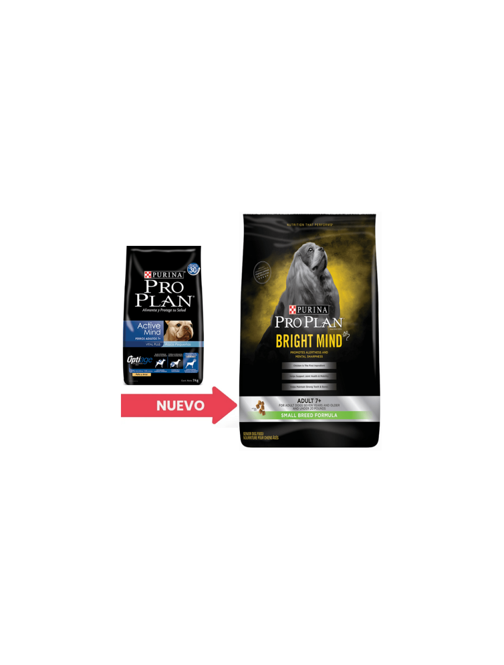 Pro plan Adult +7 Active Mind Small Breed - Ciudaddemascotas.com