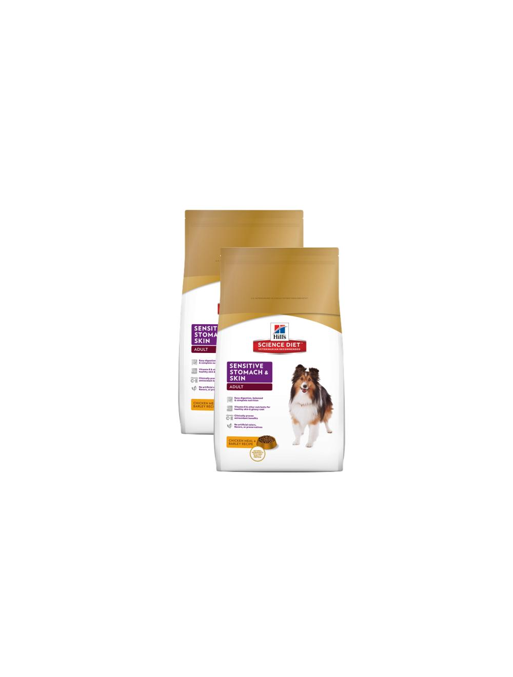 Hill's Perro Adulto Sensitive Stomach and Skin PROMO 2Und x 2 Kg