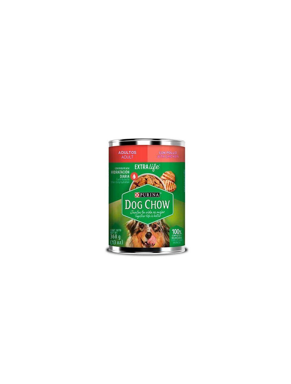 Six Pack Dog Chow Festival Trozos De Pollo 368 G En Lata