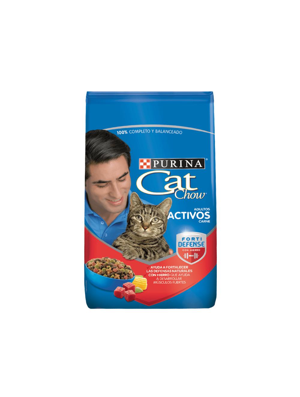 Purina Cat Chow Para Gatos Adultos Activos Carne (8 Kg)