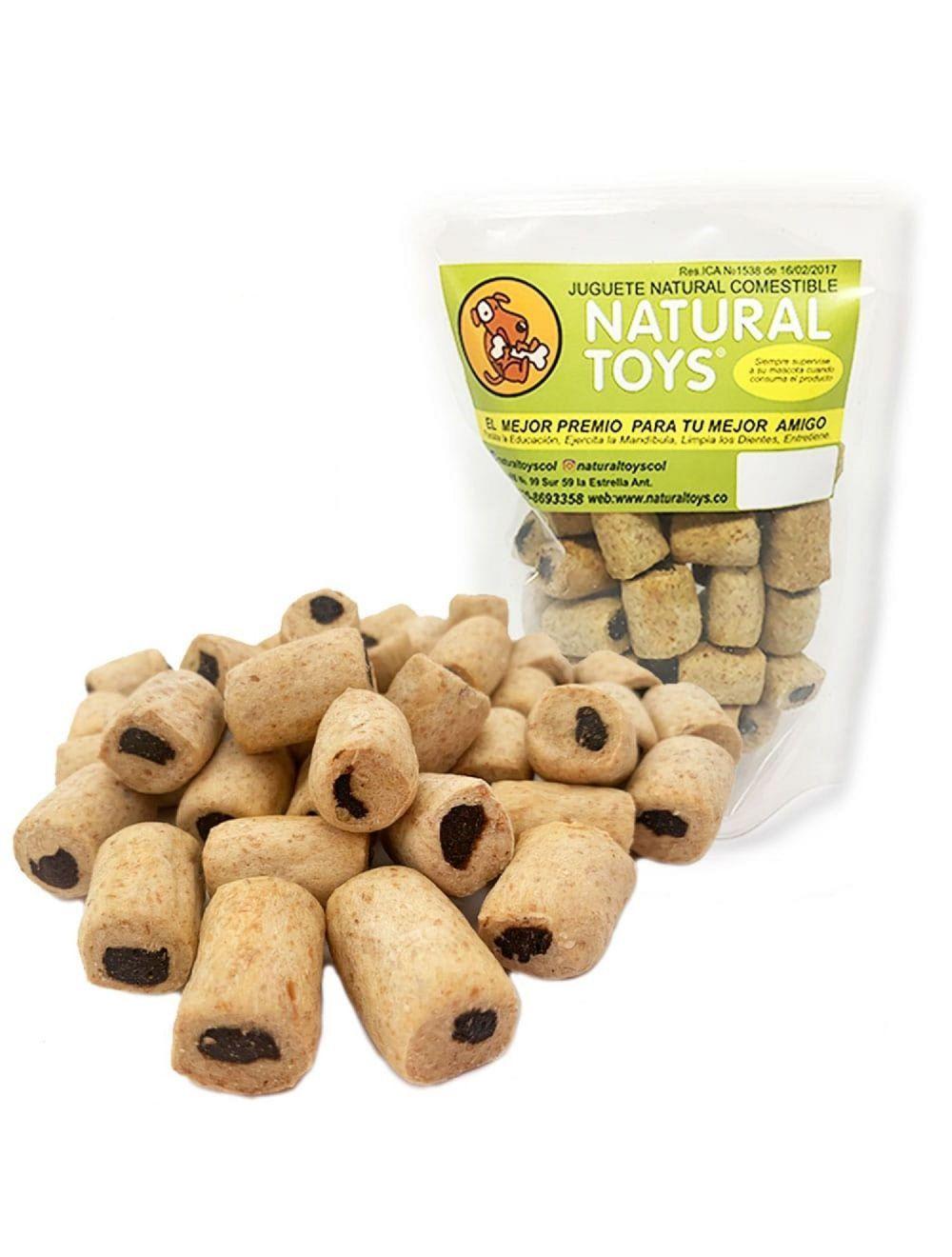 Snacks rellenitos surtidos con fibra natural-Ciudaddemascotas.com