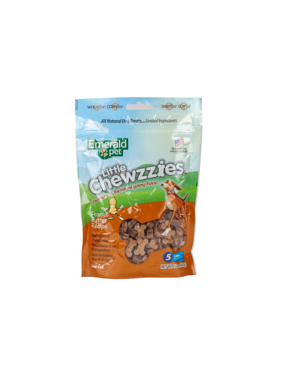 Snack Emerald Pet Little Chewzzies Peanut - Ciudaddemascotas.com