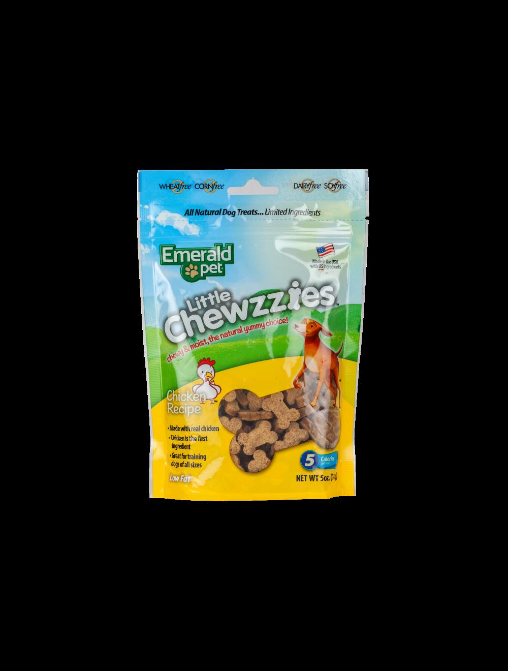 Emerald Pet Dog Snack Little Chewzzies Pollo 141 gr - Ciudaddemascotas.com