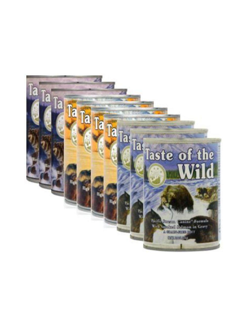 Taste of the wild Lata Multisabor Pague 9 lleve 10