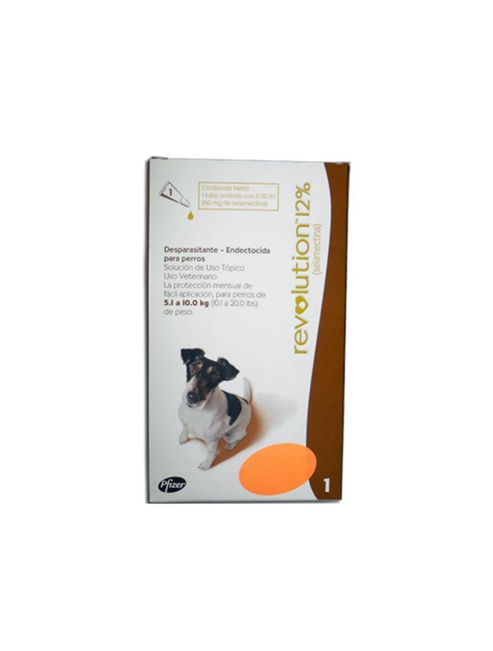 Revolution 12% Perros 5.1 10.0 kg 0.50 ml-Ciudaddemascotas.com