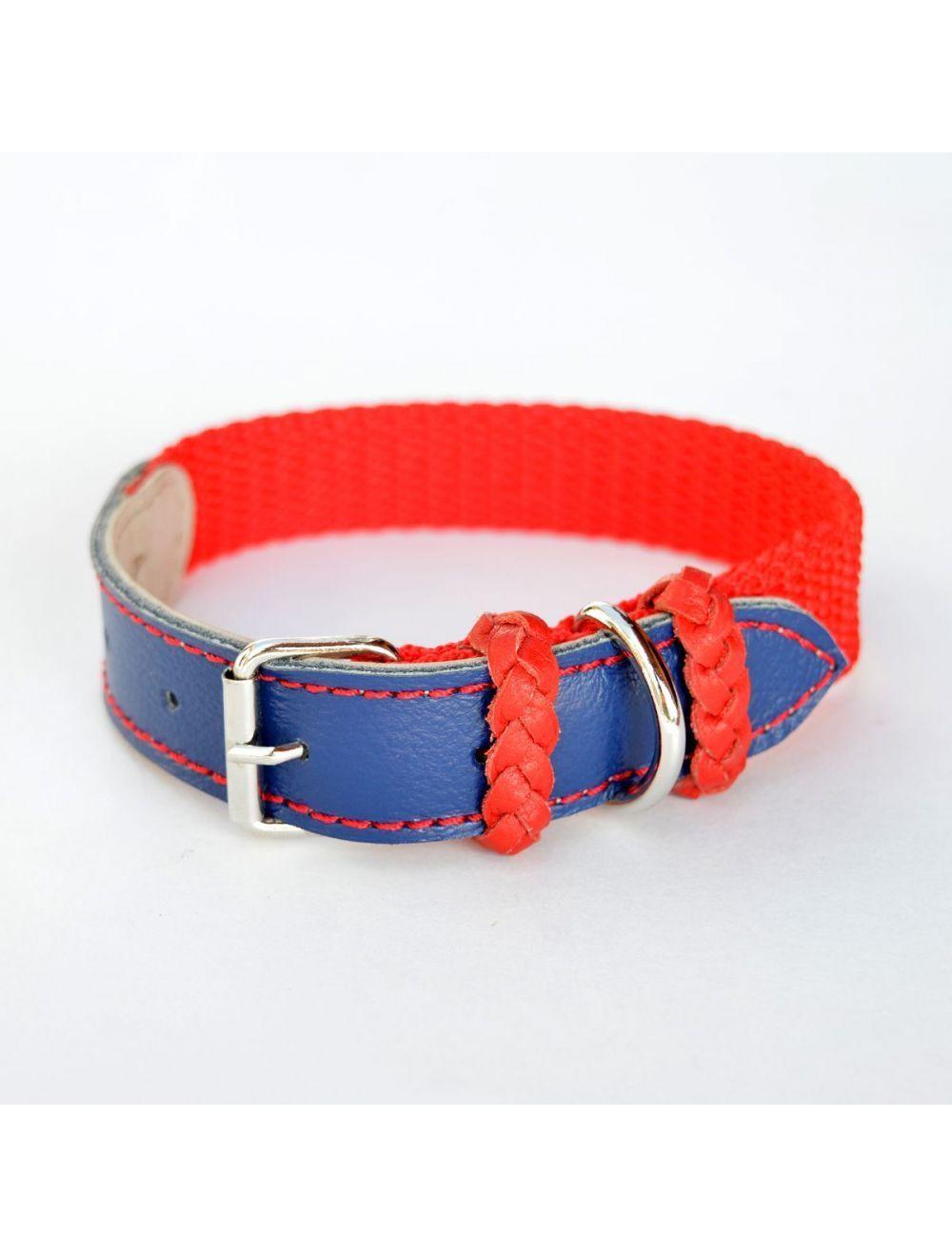 Collar Ciudaddemascotas Rojo y Azul Talla Xs