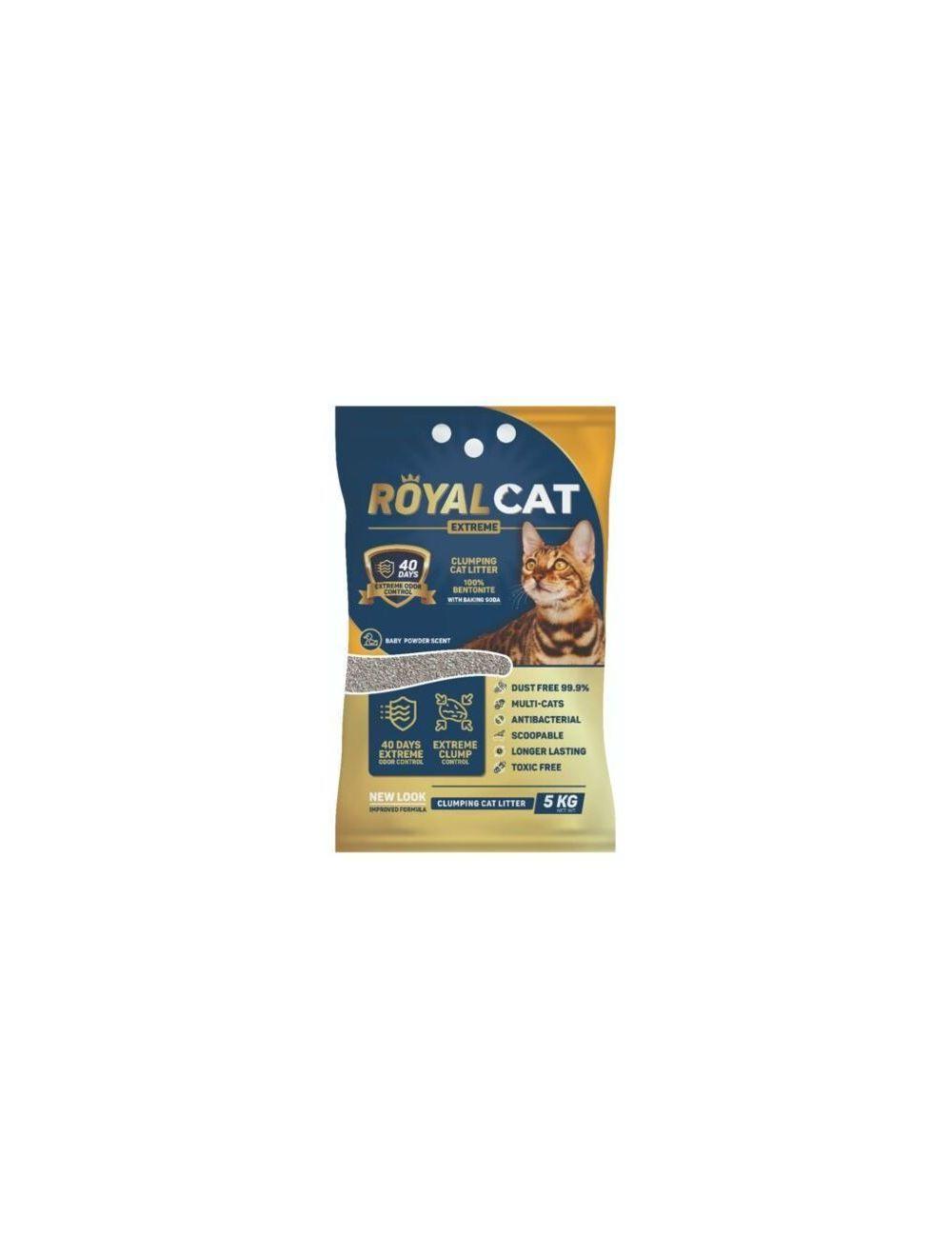 Royal Cat Arena Talco de Bebe 5 Kg Bolsa - Ciudaddemascotas.com