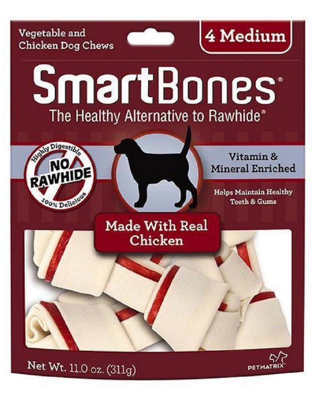 Snacks para perro Smartbones Chicken Medium- Ciudaddemascotas