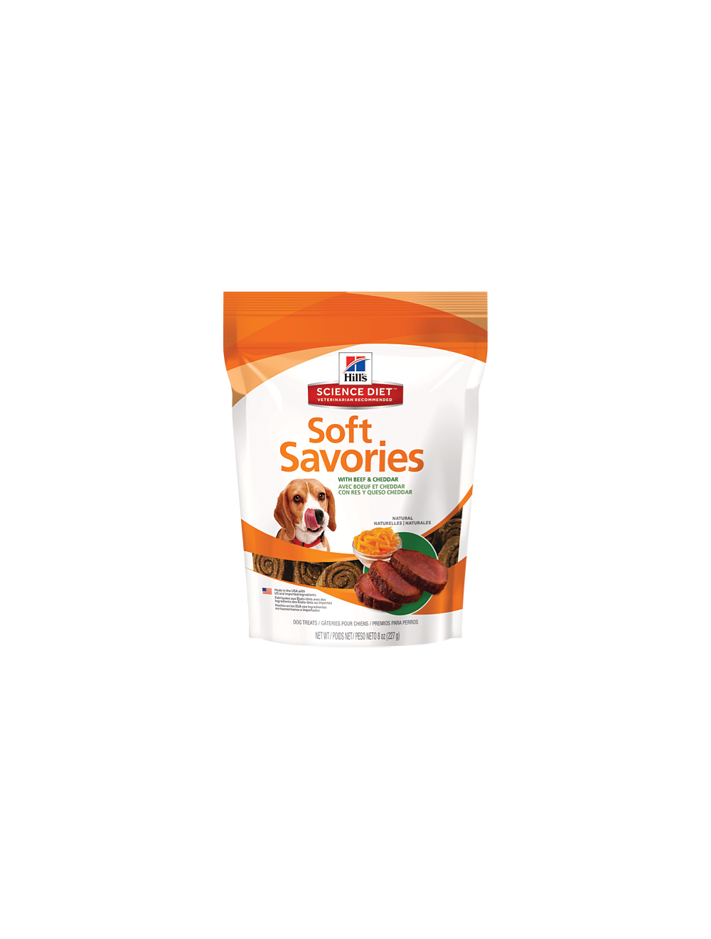 Hill's Soft Savories Galletas Carne y Queso x 227g