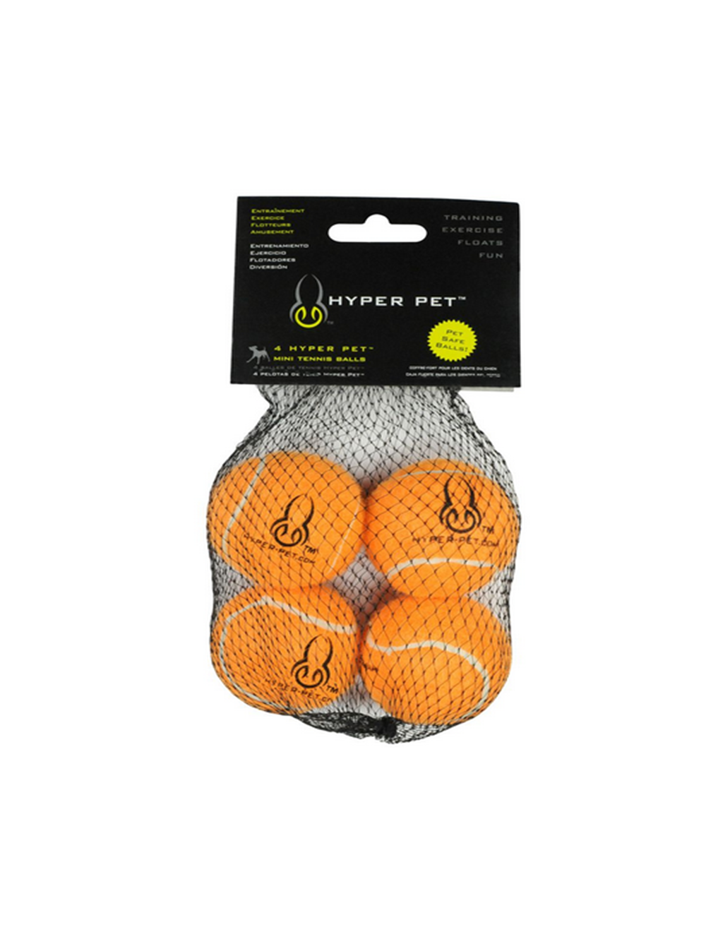Hypet Pet Set Pelotas Naranjas x 4 Medium