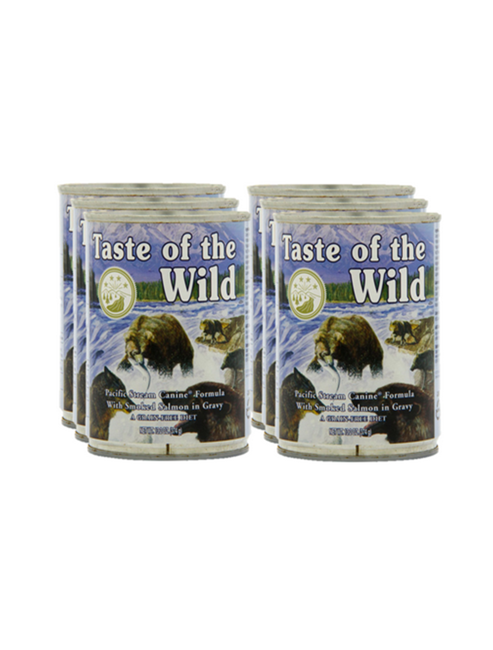 Six Pack Taste of The Wild Lata Pacific Stream 374 g