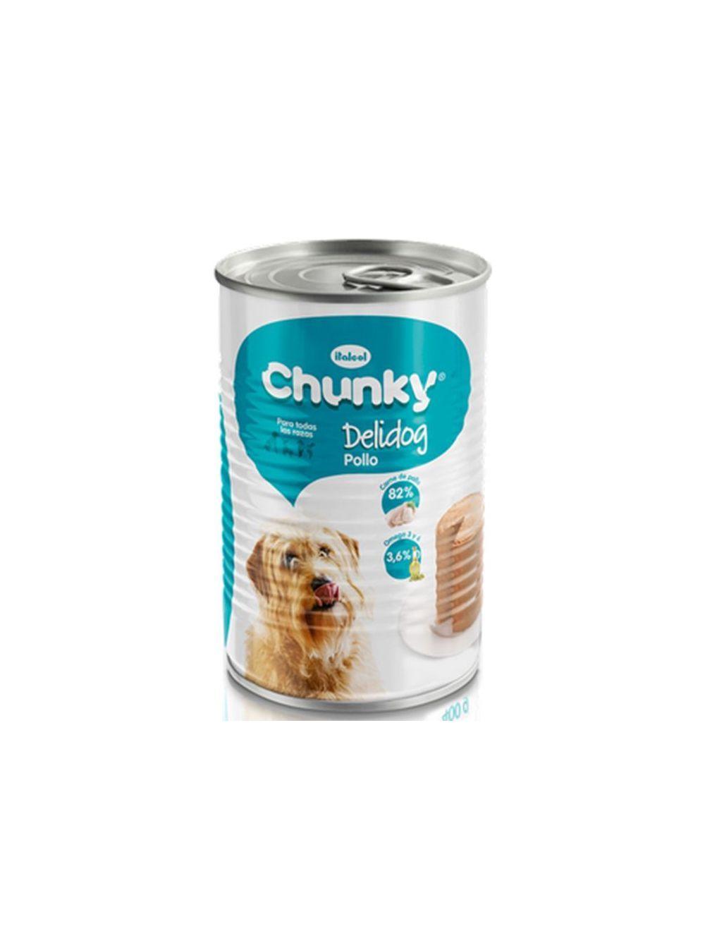 Chunky delidog Pollo Lata Perro 400 gr - P80