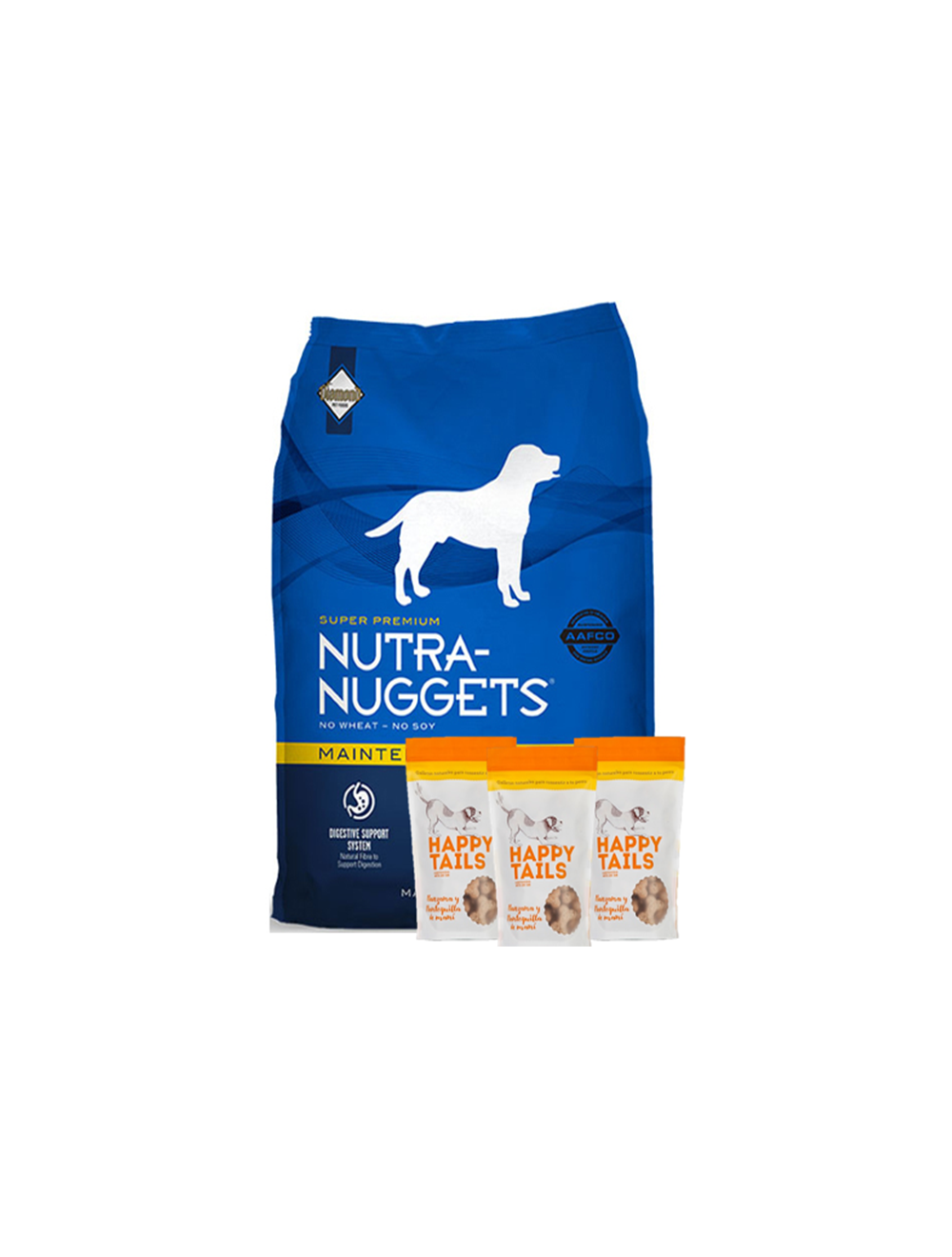 Nutra Nuggets Combo Mantenimiento (15 Kg) + TriPack Happy Tails