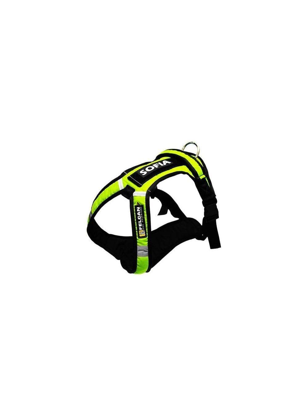 Arnes Dog Adventure Verde Neon Talla L