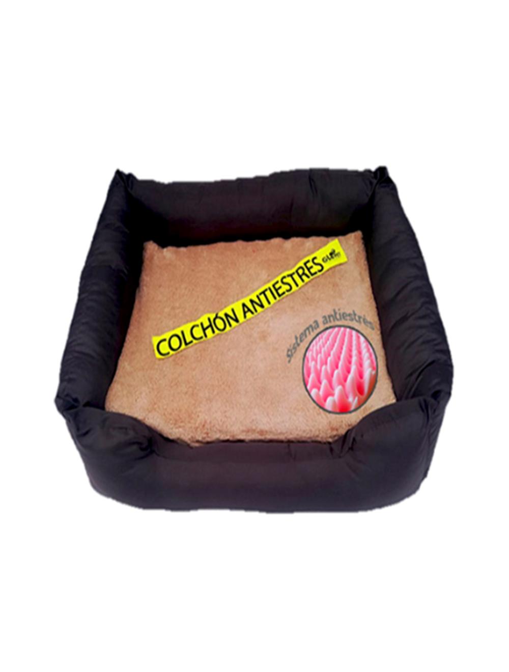 Cama sofa con colchon antiestres Gloopet talla L gris