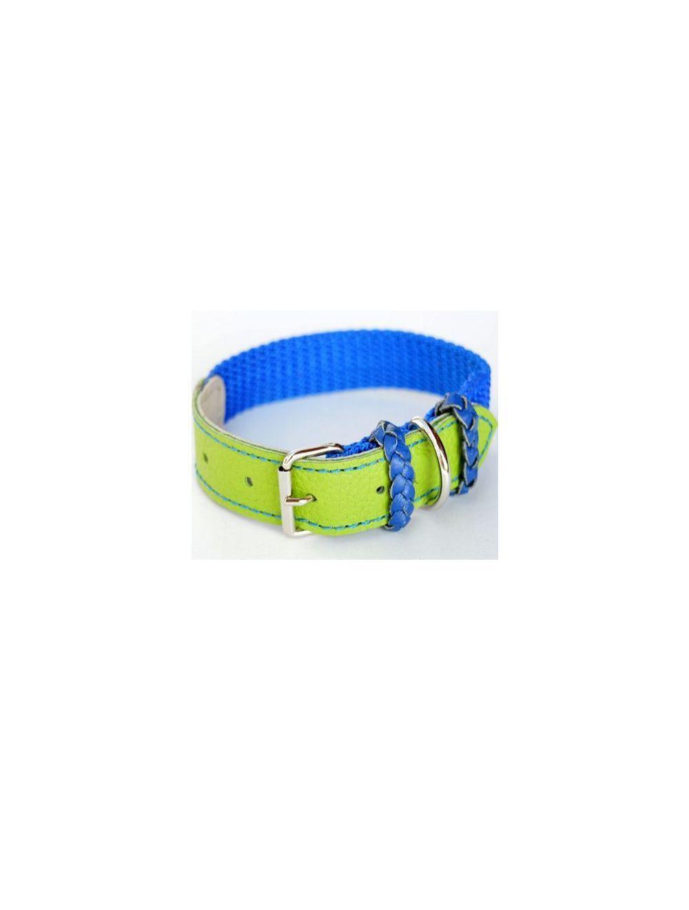 Collar Ciudaddemascotas Azul y Verde Talla S - PRSR
