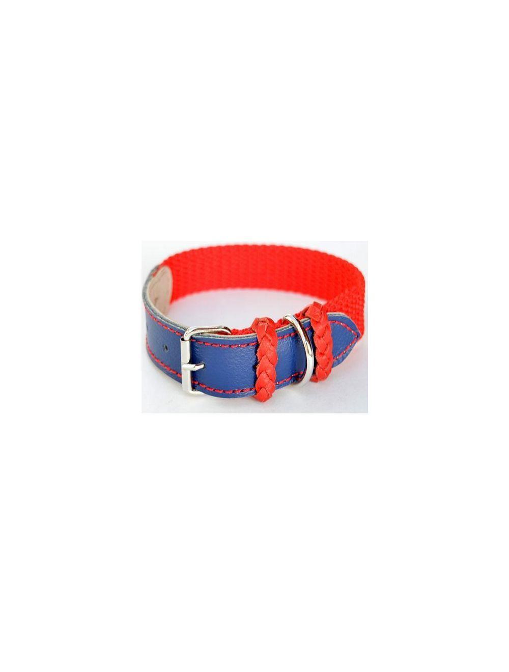 Collar Ciudaddemascotas Rojo y Azul Talla L