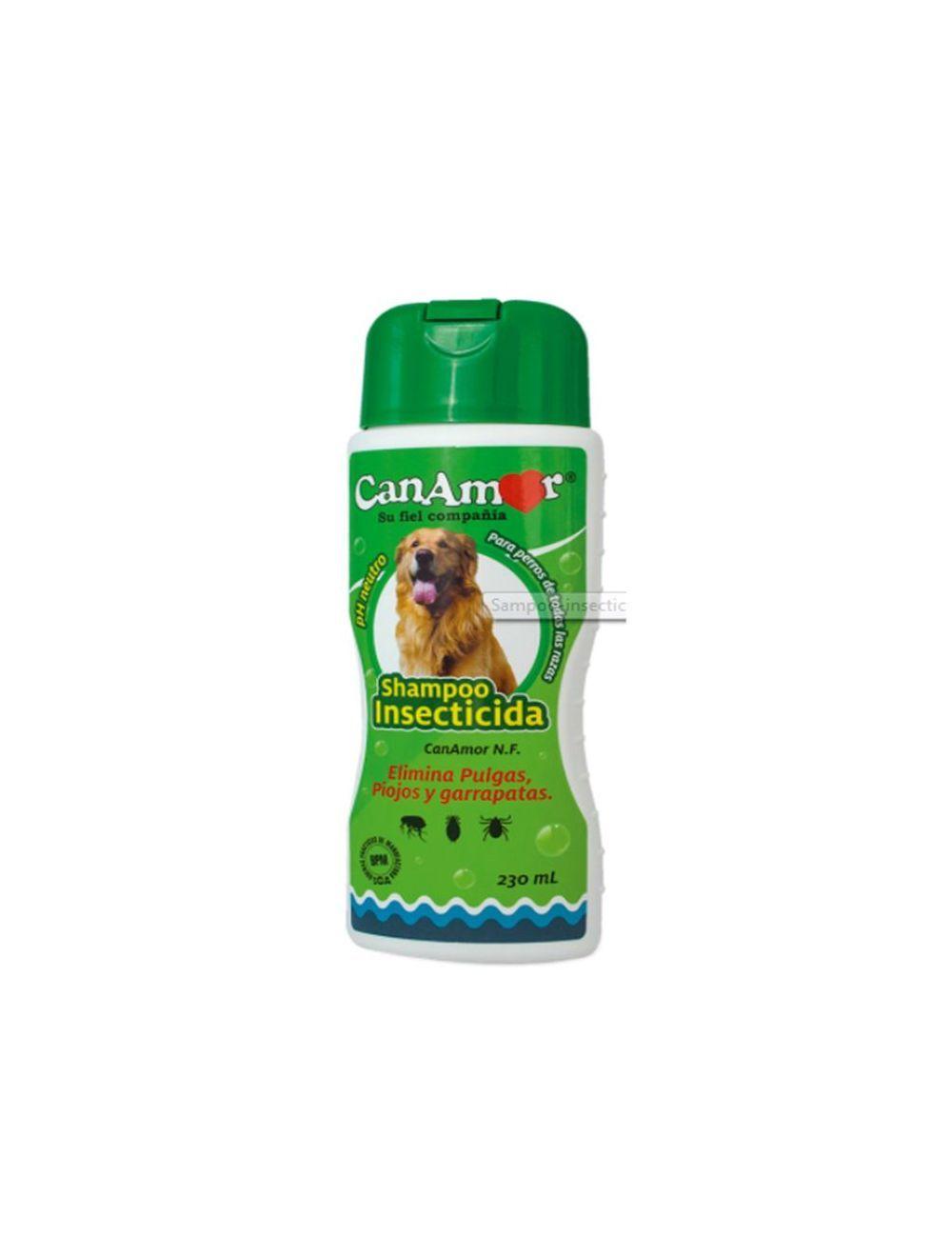 Shampoo antipulgas para perros Canamor-Ciudaddemascotas.com