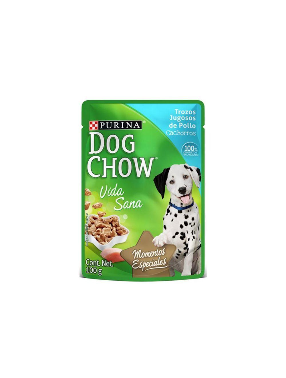 Dog chow pouch trozos pollo para cachorros-Ciudaddemascotas.com