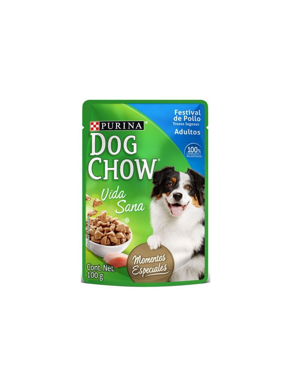 Dog chow pouch Festival de pollo - P80