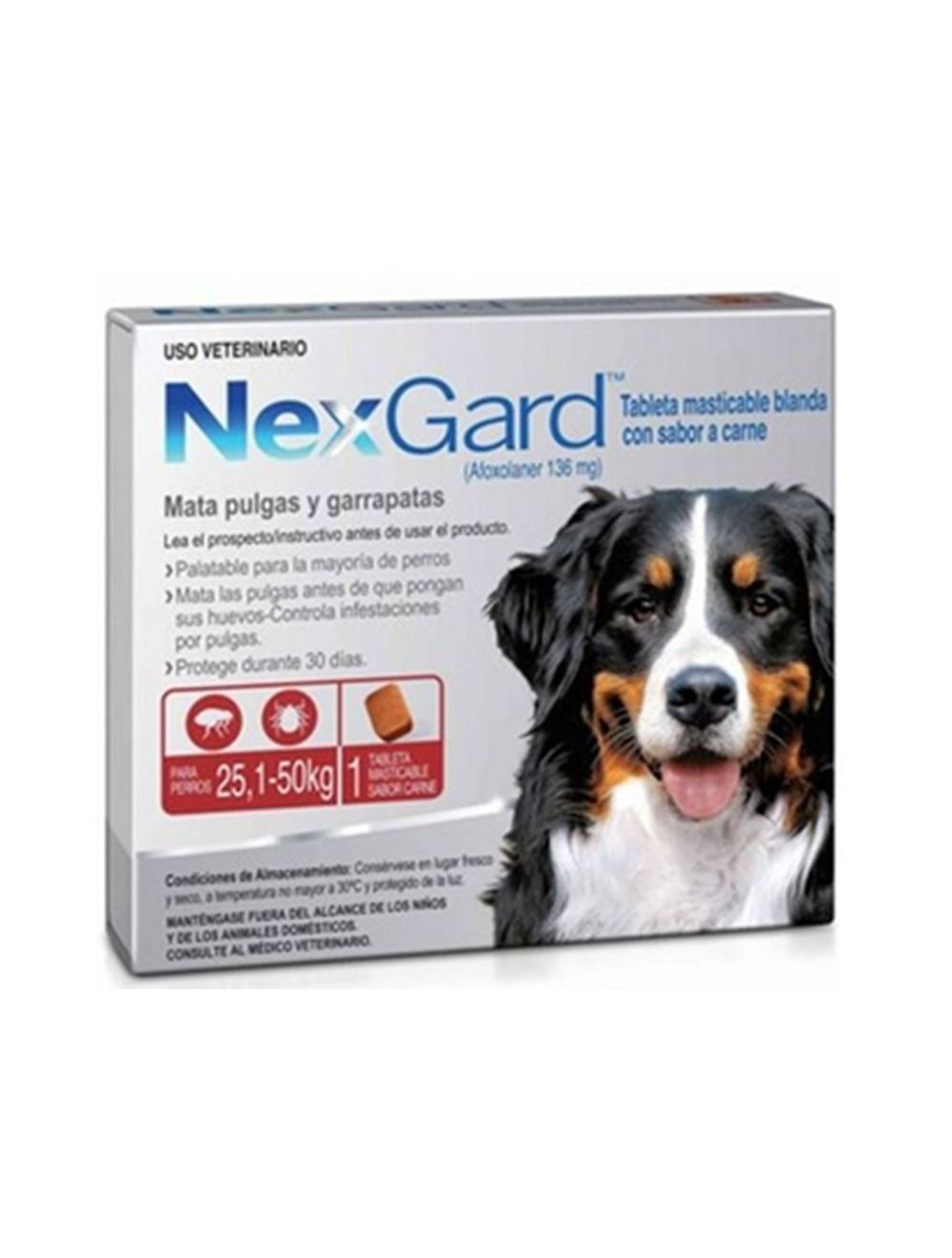 Antipulgas para Perros NexGard 25.1 - 50-Ciudaddemascotas.com