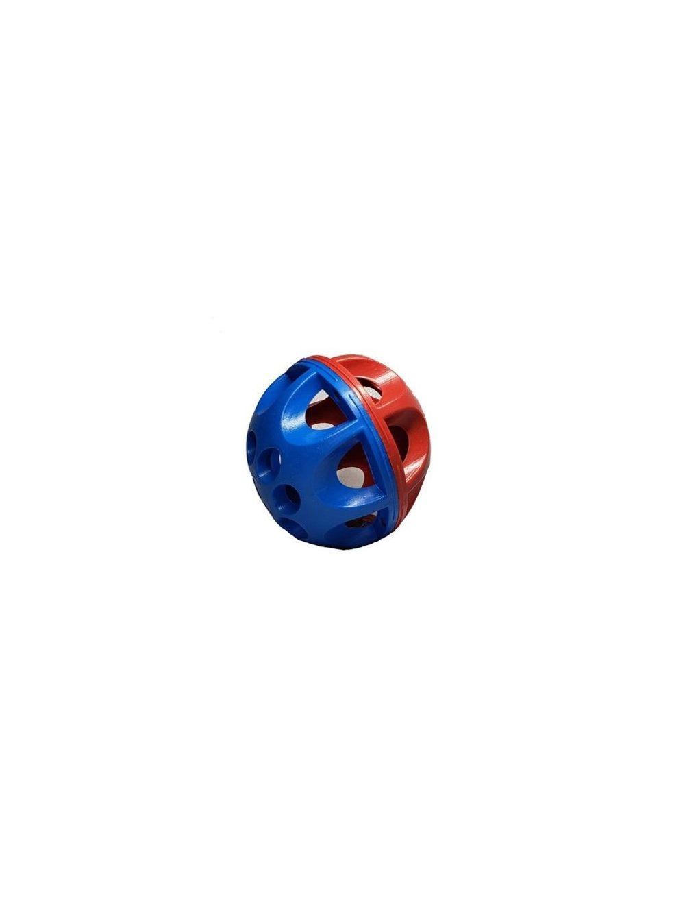 Solepet Pelota Para Perros Bicolor Con Cascabel Azul-Rojo
