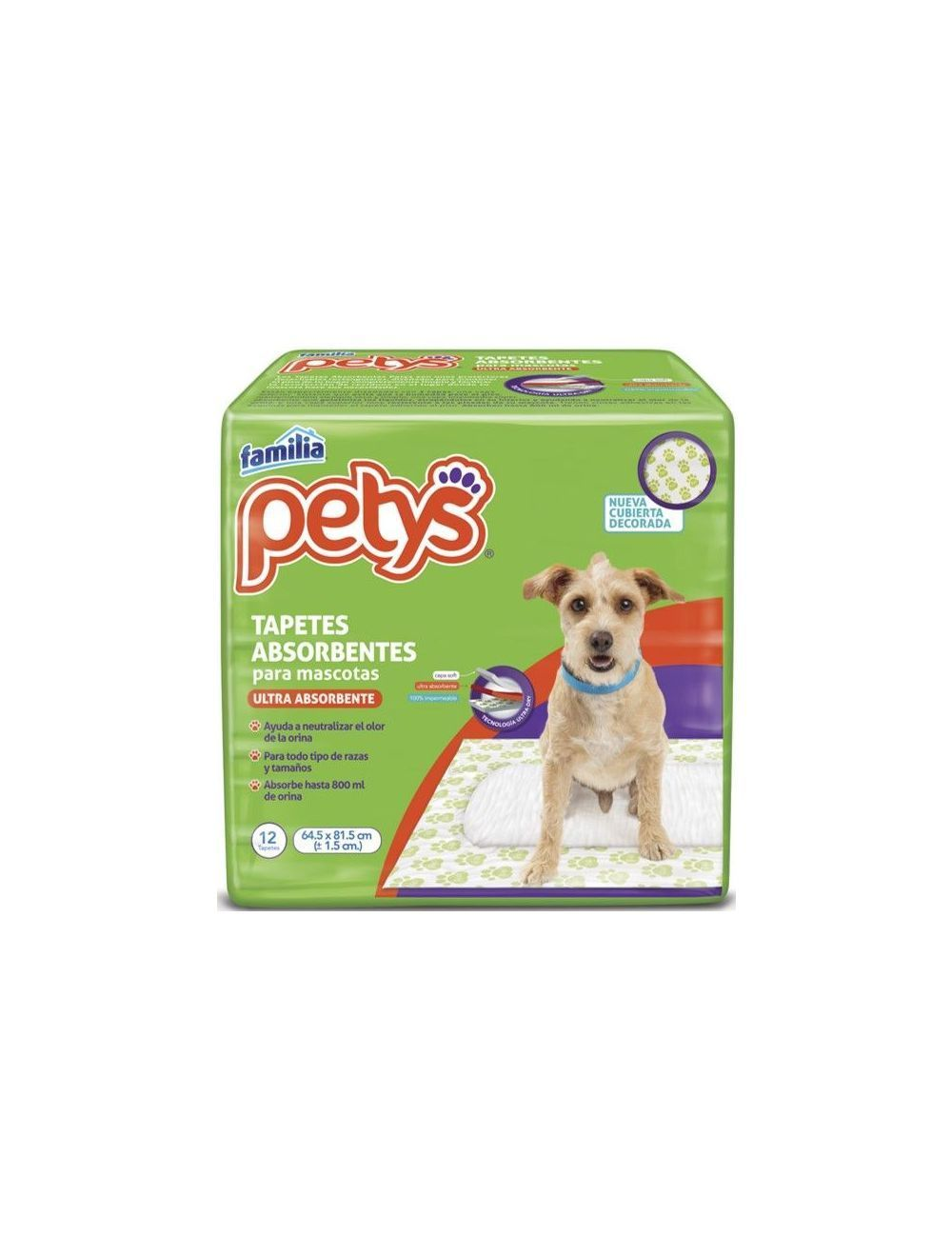 Petys Tapetes Absorbentes Paquete x 12 tapetes