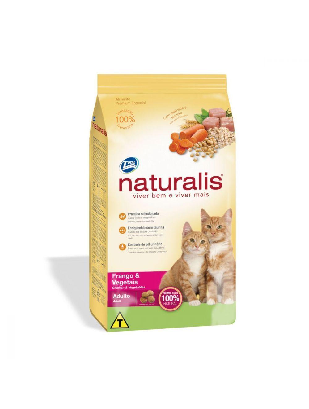 Naturalis Gatos Adultos Pollo y Vegetales x 3 Kg