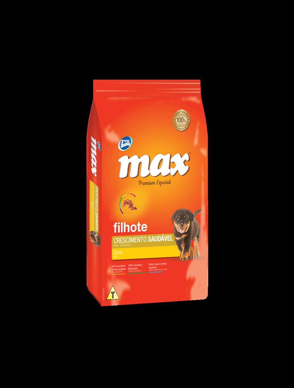 Total Max Perro Cachorro Carne 15kg