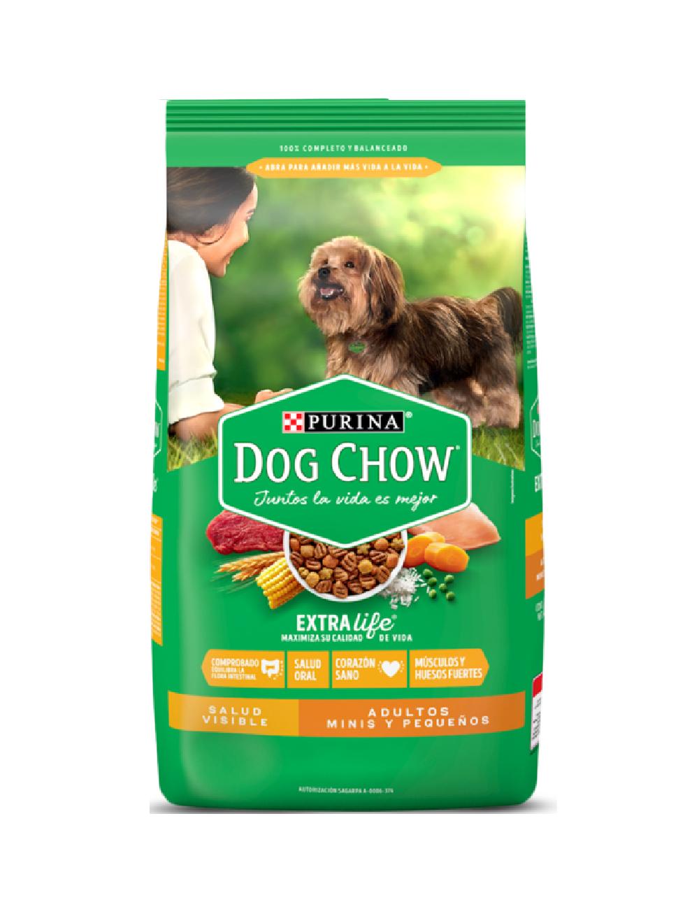Dog Chow Salud Visible Adultos Minis Y Pequeños 4 Kg - Ciudaddemascotas.com