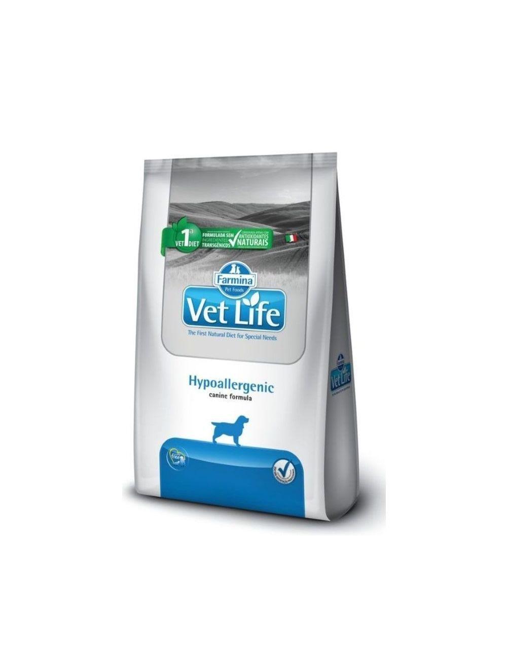 Comida Vet Life Hypoallergenic 2 Kg - ciudaddemascotas.com