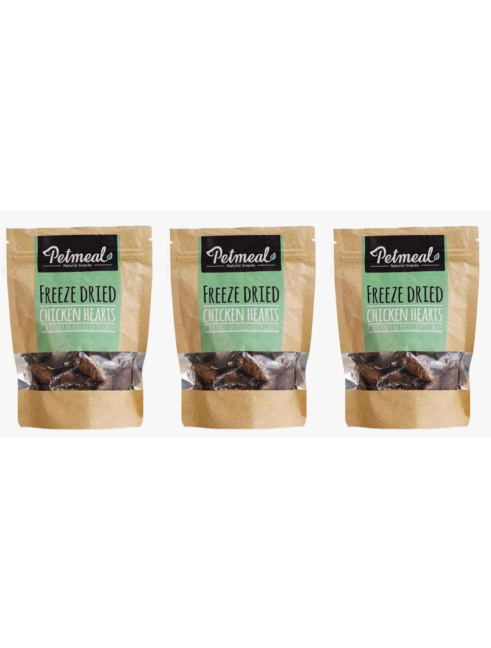 Petmeal Natural Snacks Chicken Hearts Combo x 3