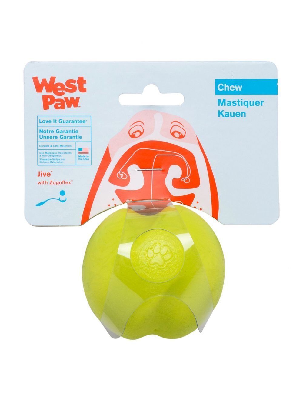 West Paw Jive Ultra Resistente Small Verde