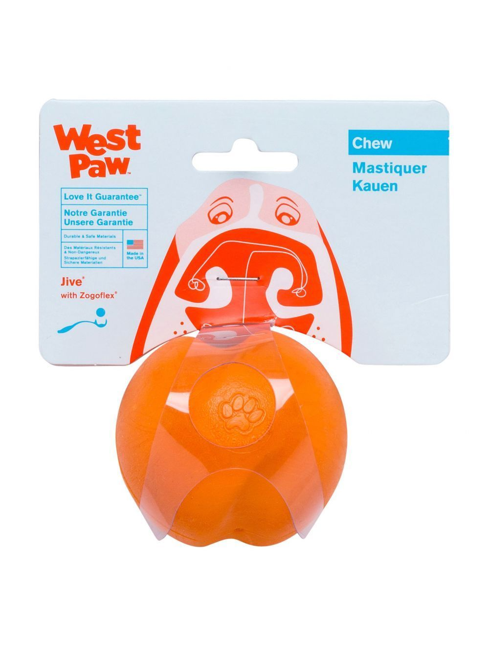 West Paw Jive Ultra Resistente Small Naranja