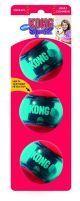 Kong perro squeezz action pelota roja medium x 3