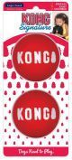 Kong perro pelotas signature medium x 2