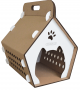 Masco Casa Plegable para Gatos Kraft-Blanco