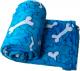 Cobija para mascotas coral Huesos azul talla M