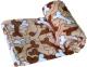 Cobija para mascotas coral Huesos café talla L