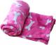 Cobija para mascotas coral Huesos Rosa talla M