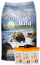 Taste Of The Wild Combo Pacific Stream Canine 12.7 Kg + TripPack Happy Tails