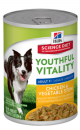 Hills Perro Youthful Vitality Adult 7+ Lata Chicken And Veget X 354G