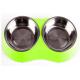 Comedero Doble Pet Twin Bowl Verde Small