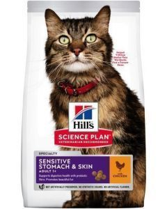 Hill's Gato Adulto Sensitive Skin and Stomach 1,6 Kg