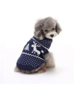 Suéter, Buzo, Saco Navideño para Perros o Gatos, Valentín For Pets Azul Talla XL