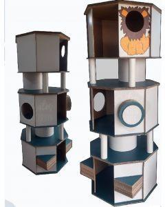 Gatos Carton House - Torre Gatuna - Personalizado