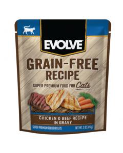 EVOLVE Cat Grain Free Pouche Pollo y Res 85 GR