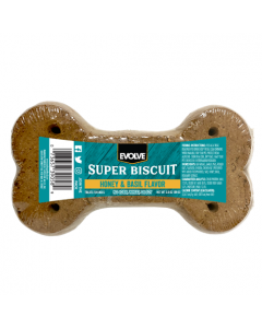 EVOLVE Snack Classic Super Biscuit Hueso Miel y Albahaca