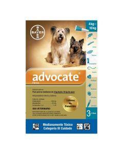 Advocate Pipeta para Perros de 4 kg hasta 10 kg Tripack